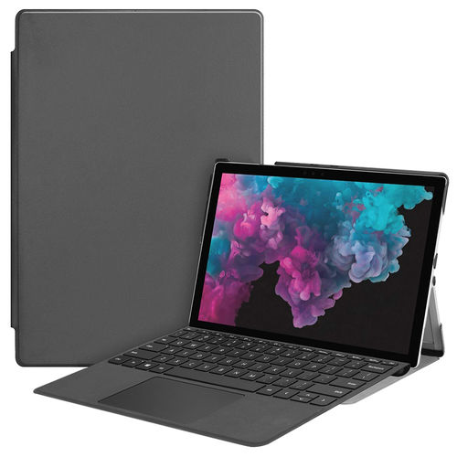 Slim Smart Case & Stand for Microsoft Surface Pro 4 / 5 / 6 - Grey